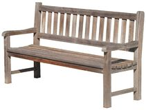 Isolated street wood bench Royalty Free Stock Photography