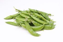 Isolated string beans. Isolated of fresh green string beans on white background stock image