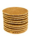 Isolated stroopwafel Royalty Free Stock Image