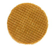 Isolated stroopwafel Stock Images
