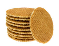 Isolated stroopwafel Royalty Free Stock Images