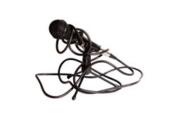 Isolated studio microphone Royalty Free Stock Image