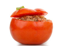 Isolated stuffed tomato Stock Images
