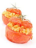 Isolated stuffed tomato Royalty Free Stock Photos