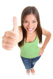 Isolated success thumbs up woman Stock Image