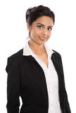Isolated successful happy indian business woman over white. royalty free stock photos