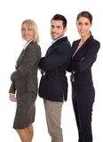 Isolated successful male and female business team. Stock Photos