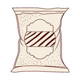 Isolated sugar bag design. Sugar bag icon. Dessert sweet candy food and organic theme. Isolated design. Vector illustration Stock Photos