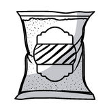 Isolated sugar bag design. Sugar bag icon. Dessert sweet candy food and organic theme. Isolated design. Vector illustration Stock Photography
