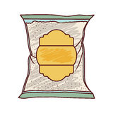 Isolated sugar bag design. Sugar bag icon. Dessert sweet candy food and organic theme. Isolated design. Vector illustration Royalty Free Stock Image