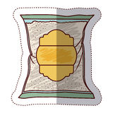 Isolated sugar bag design. Sugar bag icon. Dessert sweet candy food and organic theme. Isolated design. Vector illustration Royalty Free Stock Images