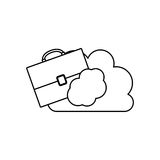 Isolated suitcase and cloud design Royalty Free Stock Photos