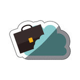 Isolated suitcase and cloud design Stock Photography