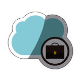 Isolated suitcase and cloud design Royalty Free Stock Images