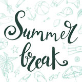 Isolated summer lettering. Vector illustration with handwitten quote. Elements for your design Stock Photos