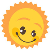 Isolated sun. A  drawing of a smiling sun, have a happy holiday Royalty Free Stock Photography