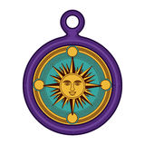 Isolated sun inside compass design Royalty Free Stock Photography
