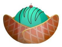 Isolated sundae illustration. Isolated sundae on a white background, Vector illustration Stock Photo