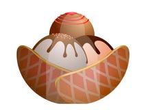 Isolated sundae illustration. Isolated sundae on a white background, Vector illustration Stock Images