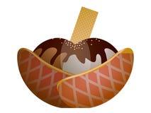 Isolated sundae illustration. Isolated sundae on a white background, Vector illustration Royalty Free Stock Photography