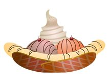 Isolated sundae illustration Stock Photos