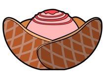 Isolated sundae illustration Royalty Free Stock Photography