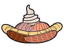 Isolated sundae illustration. Isolated sundae on a white background, Vector illustration Stock Photos