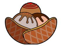Isolated sundae illustration Stock Images