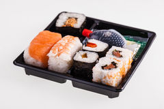 Isolated Sushi box Royalty Free Stock Photos