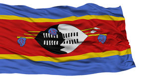 Isolated Swaziland Flag Stock Photos