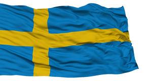 Isolated Sweden Flag. Waving on White Background, High Resolution Stock Images