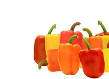 Isolated Sweet Bell Peppers Royalty Free Stock Image
