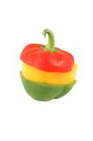 Isolated sweet bell peppers against white. Royalty Free Stock Photography