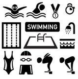 Isolated swimming icon illustration Stock Image