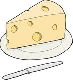 Isolated Swiss Cheese Royalty Free Stock Images