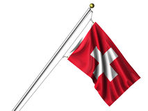 Isolated Swiss Flag Stock Photo
