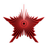 Isolated symbolic red star. 3d rendering Stock Images