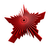 Isolated symbolic red star. 3d rendering Royalty Free Stock Photos