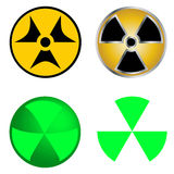 Isolated Symbols of Radiation Vector Illustration. Royalty Free Stock Photo