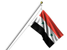 Isolated Syrian Flag Stock Image
