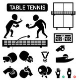 Isolated table tennis icon illustration Royalty Free Stock Images