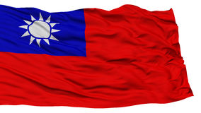 Isolated Taiwan Flag. Waving on White Background, High Resolution stock photos
