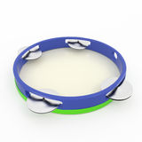 Isolated tambourine Royalty Free Stock Photos