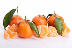 Isolated tangerine. Ripe sweet tangerine isolated on white Stock Image