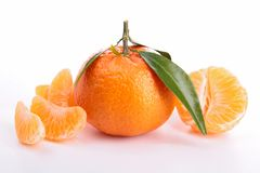 Isolated tangerine Royalty Free Stock Images