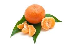 Isolated tangerine Royalty Free Stock Image
