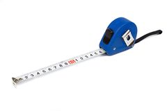 Isolated tape measure Royalty Free Stock Image
