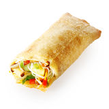 Isolated tasty Chinese spring roll royalty free stock images