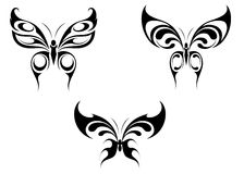 Isolated tattoos of butterfly Royalty Free Stock Images