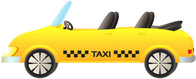 Isolated taxi car cabriolet Royalty Free Stock Photography